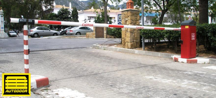Barreras aparcamiento aire libre